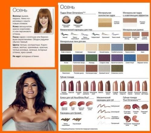 Осенний цветотип макияж