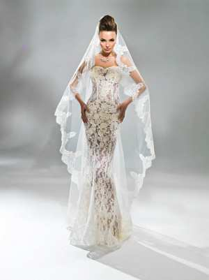 Нужна ли фата невесте? Фото и советы: Как стать самой красивой!