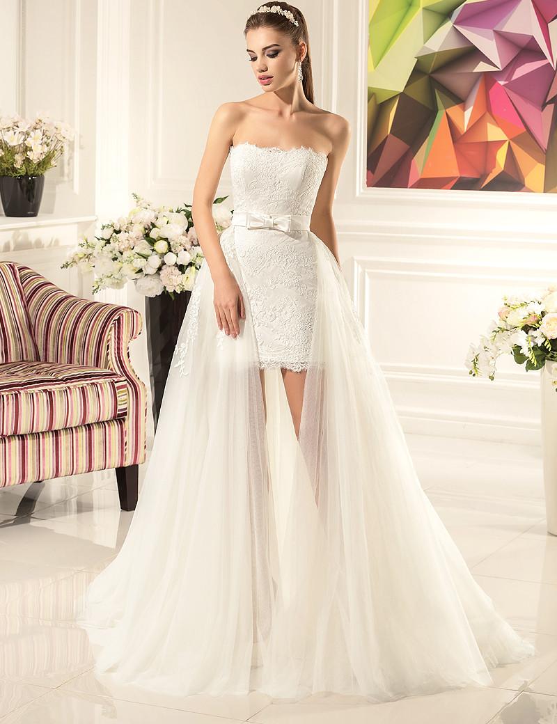 Свадебное платье длинное
