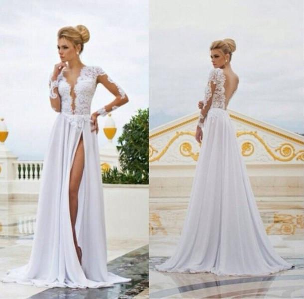 Свадебные платья фото с вырезом