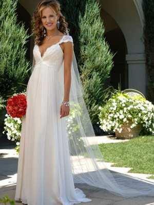 Свадебное платье силуэта Ампир (греческое) Фото и советы: Как стать самой красивой!