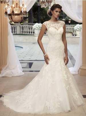 Свадебное платье силуэта Рыбка Фото и советы: Как стать самой красивой!